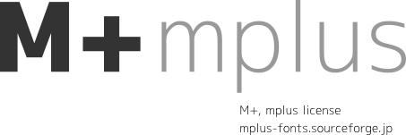 mplus fonts sample