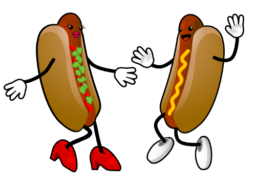 Two Hot Dogs Clipart