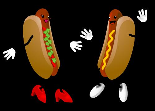 Dancing Hot Dog Ascii